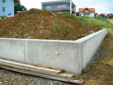 Schalung gartenmauer
